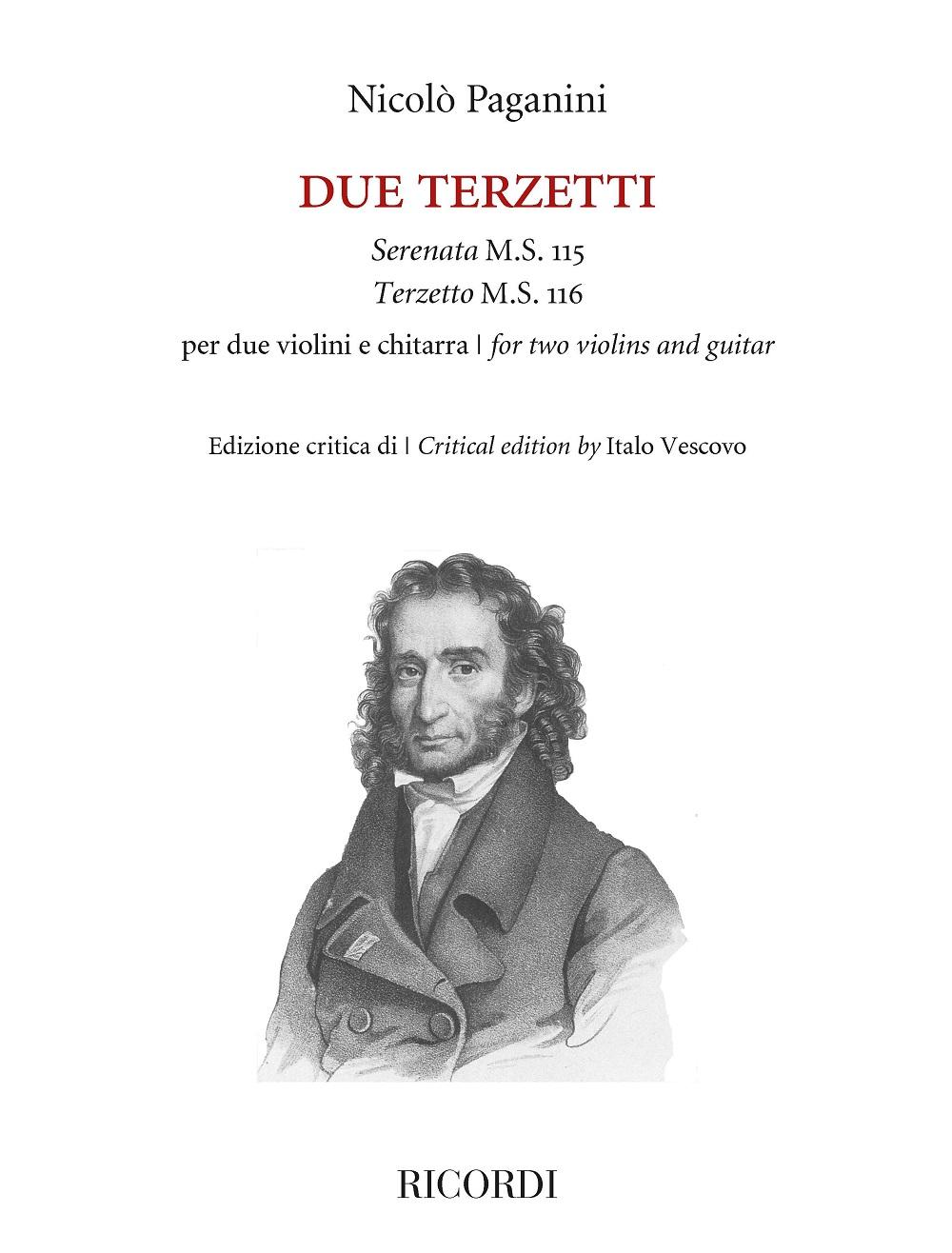 Nicolò Paganini: Due Terzetti per due violini e chitarra: Chamber Ensemble: