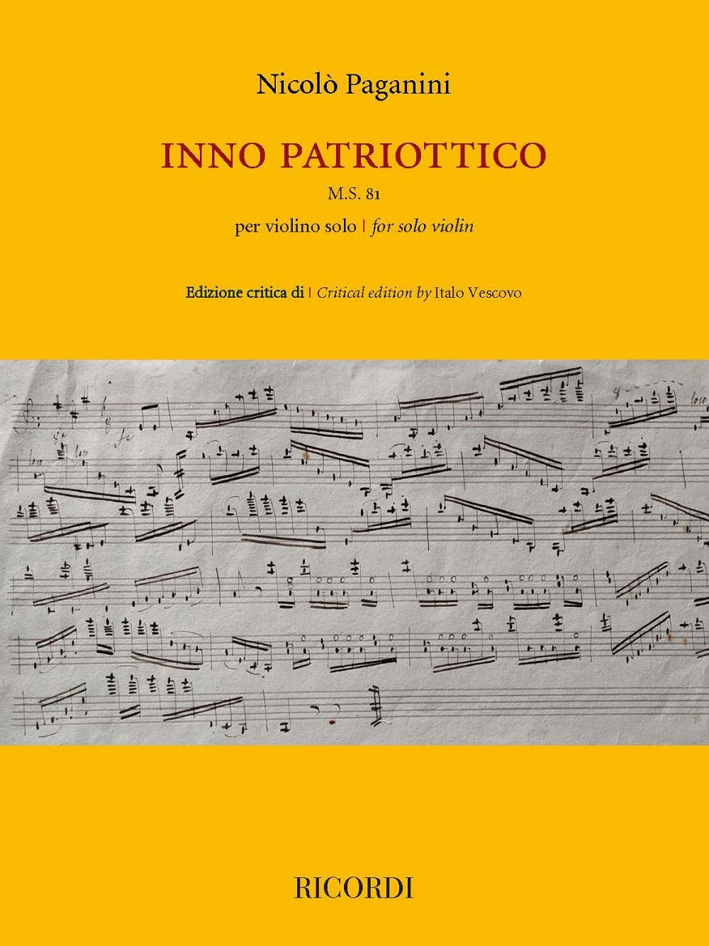 Inno Patriottico M.S. 81 per violino solo: Violin Solo: Instrumental Work