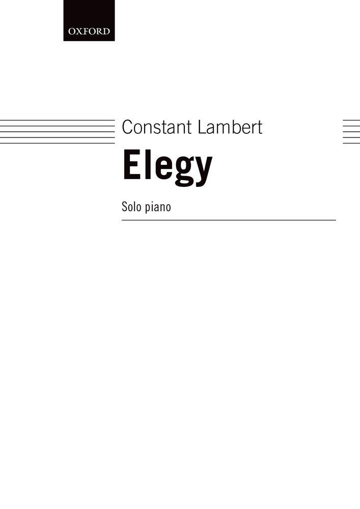 Constant Lambert: Elegy: Piano: Instrumental Work
