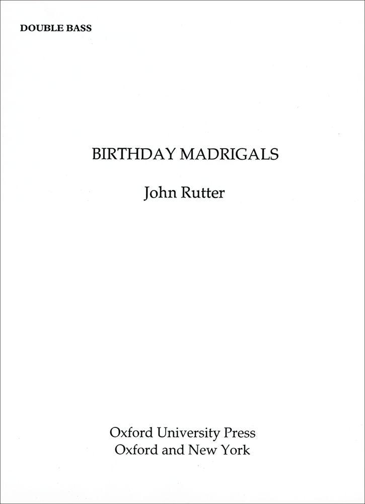 John Rutter: Birthday Madrigals: Mixed Choir: Vocal Score
