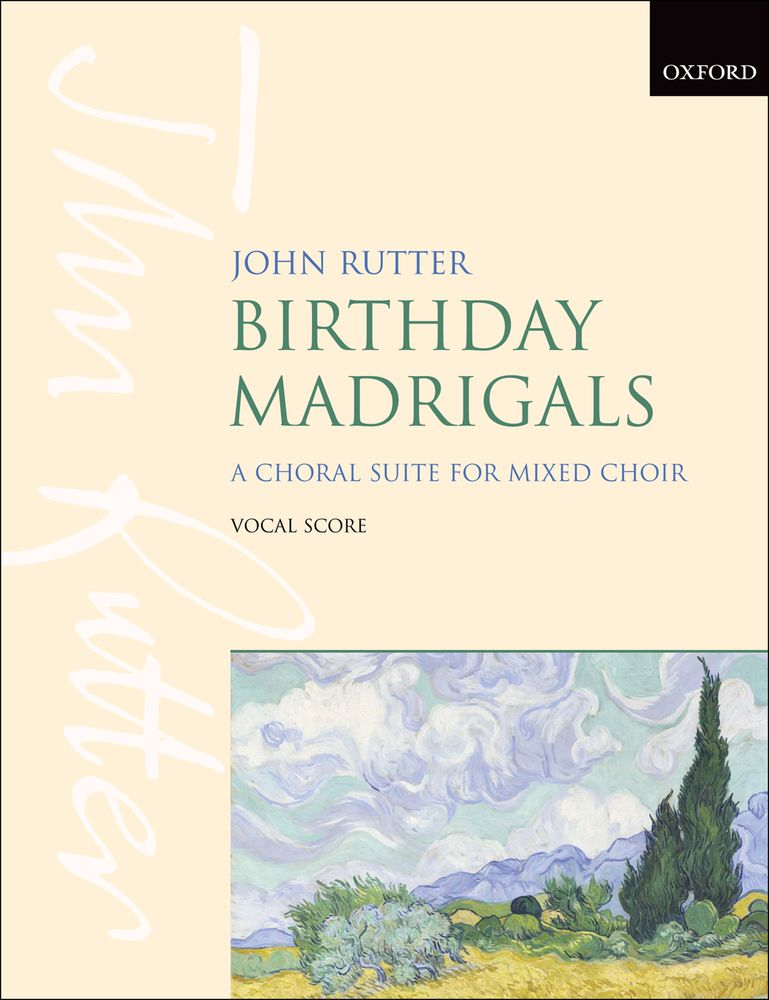 John Rutter: Birthday Madrigals: SAB: Vocal Score