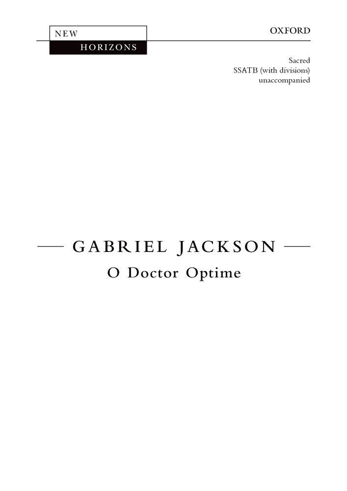 Gabriel Jackson: O Doctor Optime: Mixed Choir: Vocal Score