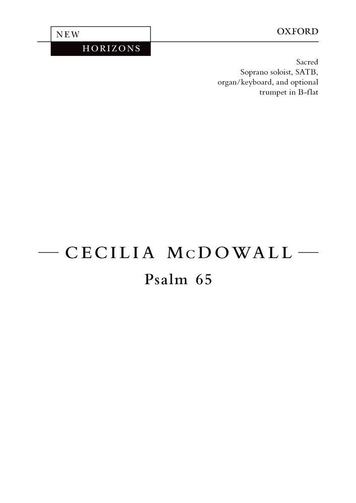 Cecilia McDowall: Psalm 65: Mixed Choir: Vocal Score