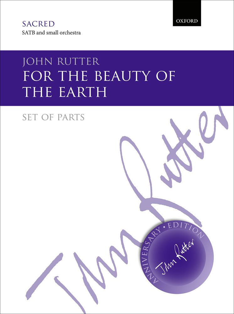 John Rutter: For The Beauty Of The Earth: Mixed Choir: Parts