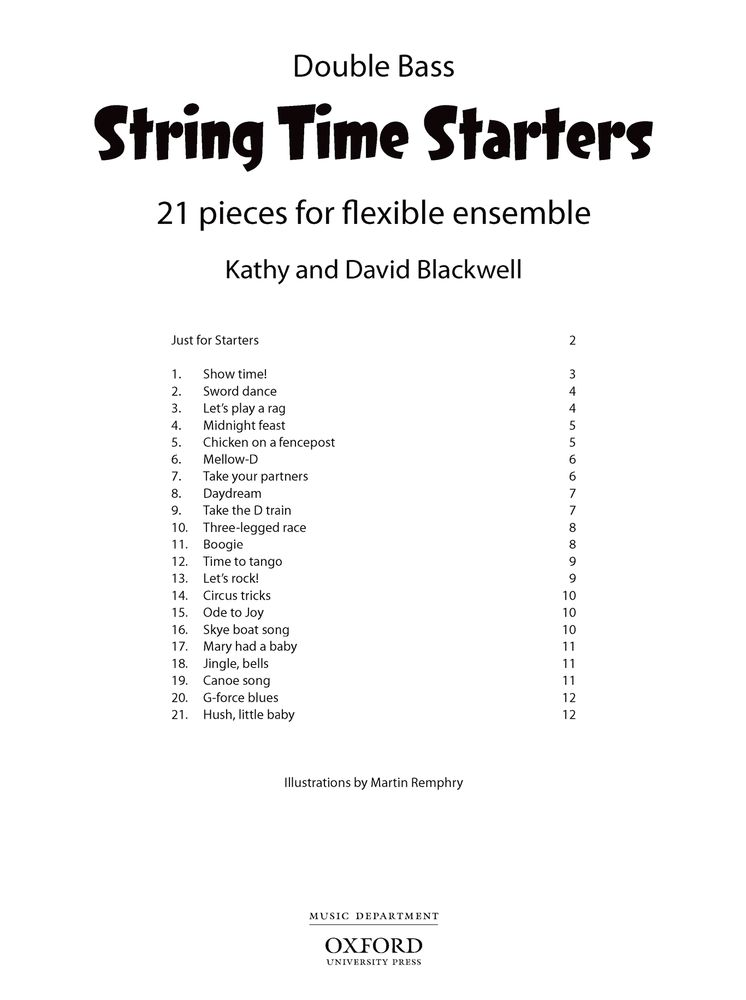 Kathy Blackwell: String Time Starters Double Bass: Double Bass: Instrumental