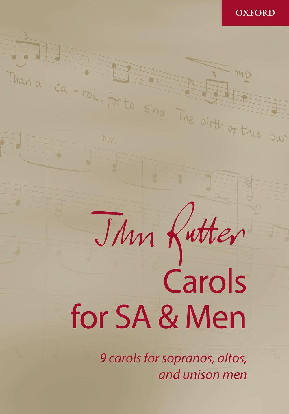 John Rutter: Carols For SA And Men: SAB: Vocal Score