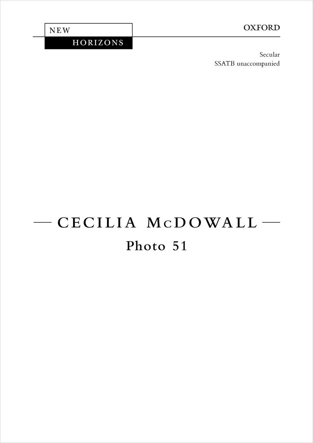 Photo 51: Mixed Choir A Cappella: Vocal Score