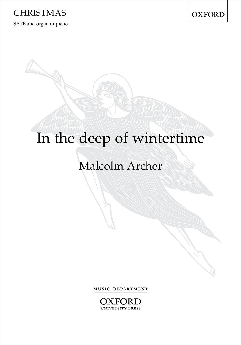 Malcolm Archer: In the deep of wintertime: Mixed Choir and Accomp.: Choral Score