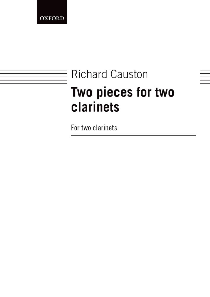 Richard Causton: Two Pieces For Two Clarinets: Clarinet: Instrumental Work