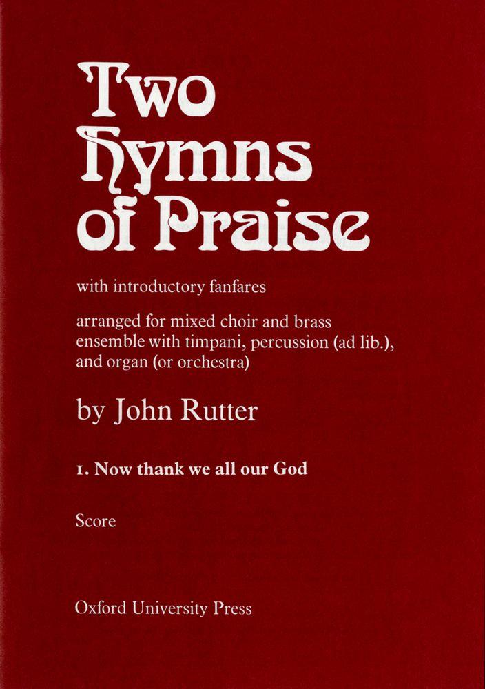 John Rutter: Now Thank We All Our God: Mixed Choir: Score