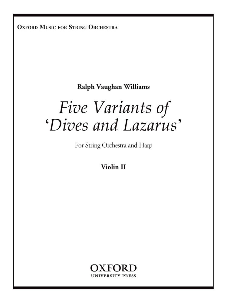 Ralph Vaughan Williams: Five Variants On 'Dives And Lazarus': String Ensemble: