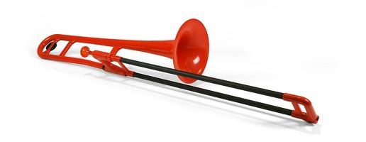 Pbone Plastic Trombone Red: Trombone