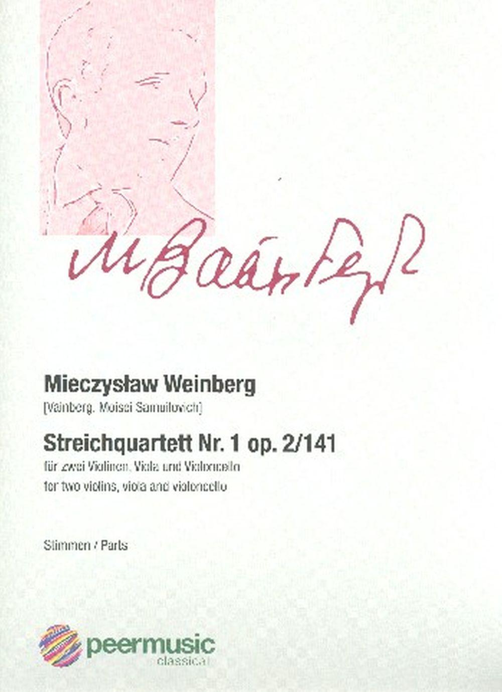 Mieczyslaw Weinberg: Streichquartett Nr 1 Opus 2/141: String Ensemble: Parts