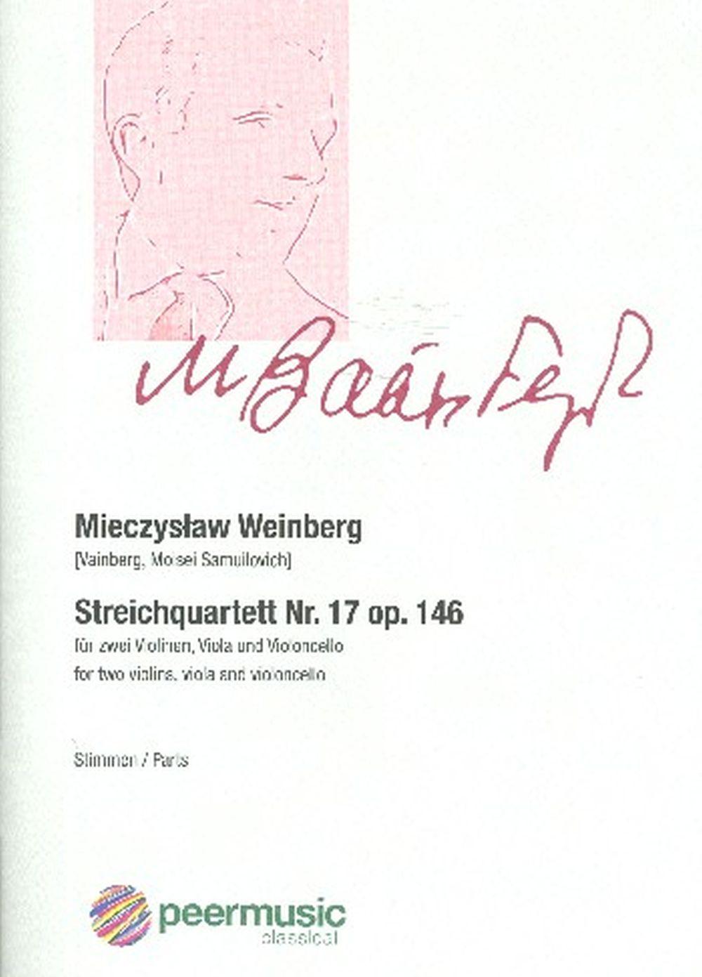 Mieczyslaw Weinberg: Streichquartett Nr 17 Opus 146: String Ensemble: Parts