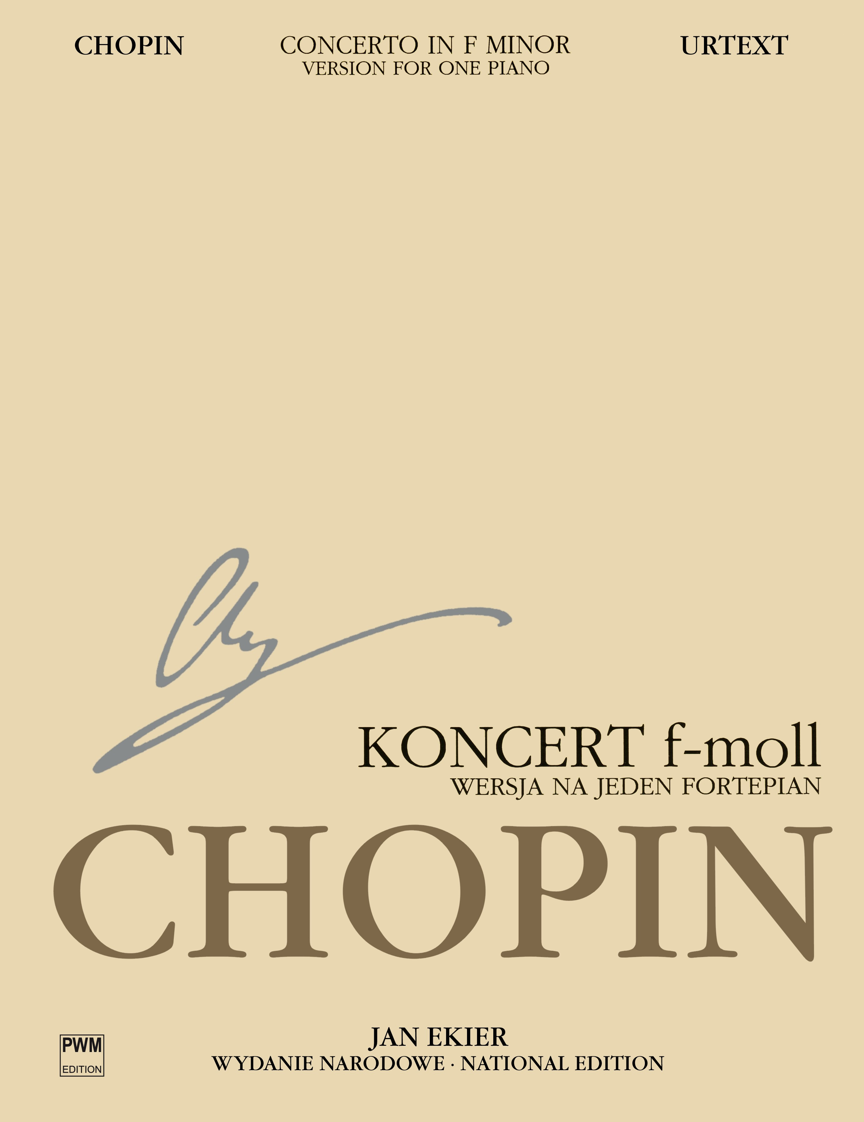 Frédéric Chopin: National Edition: Concerto In F Minor Op 21 13B: Piano: