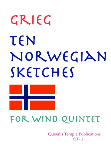 Edvard Grieg: Ten Norwegian Sketches: Wind Ensemble: Instrumental Album