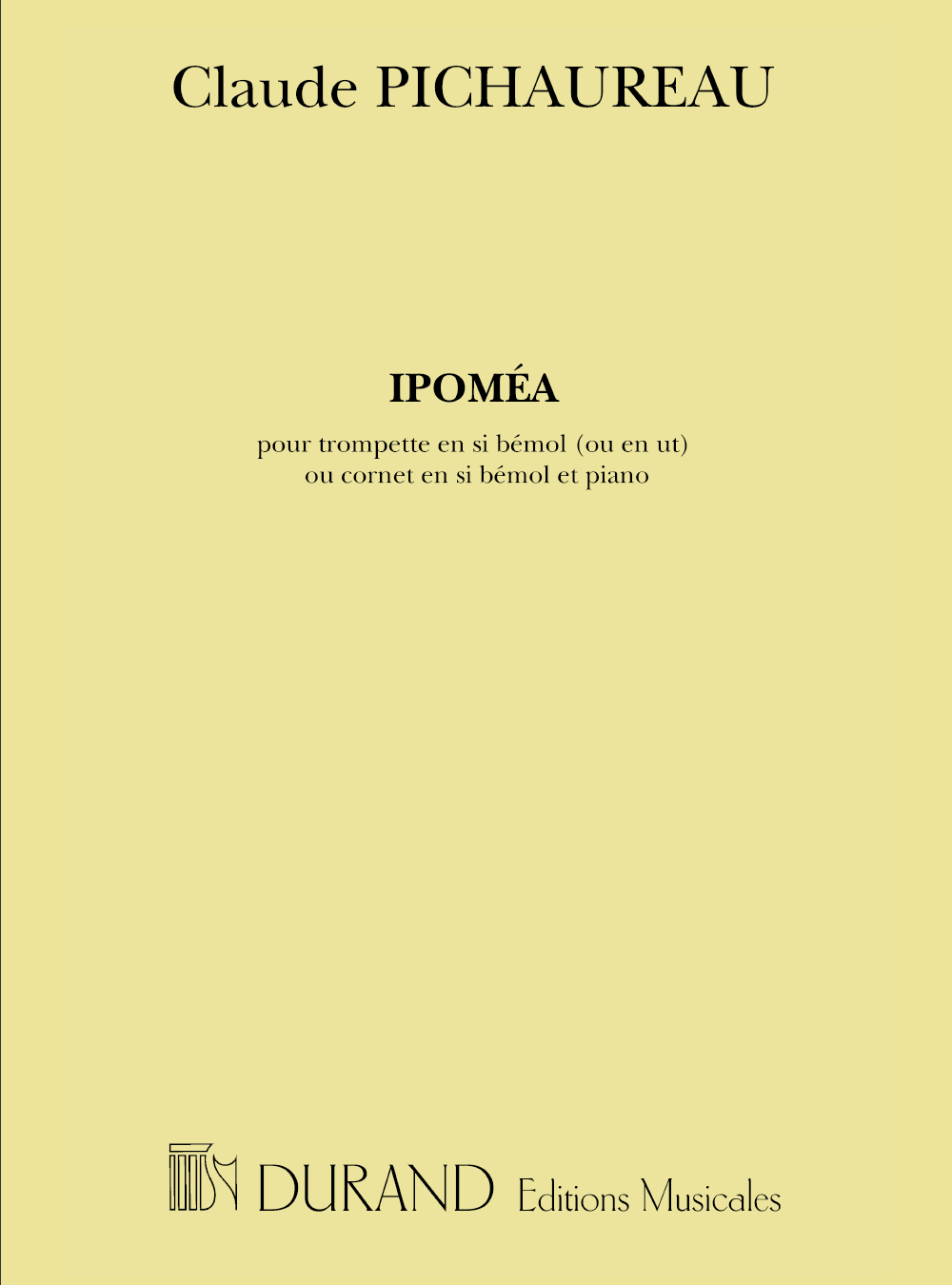 Claude Pichaureau: Ipomea Trompette-Piano: Trumpet