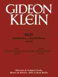 Gideon Klein: Duo: Violin & Cello: Score