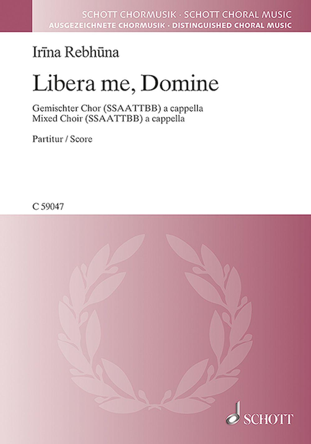 Libera Me  Domine: SATB: Vocal Score