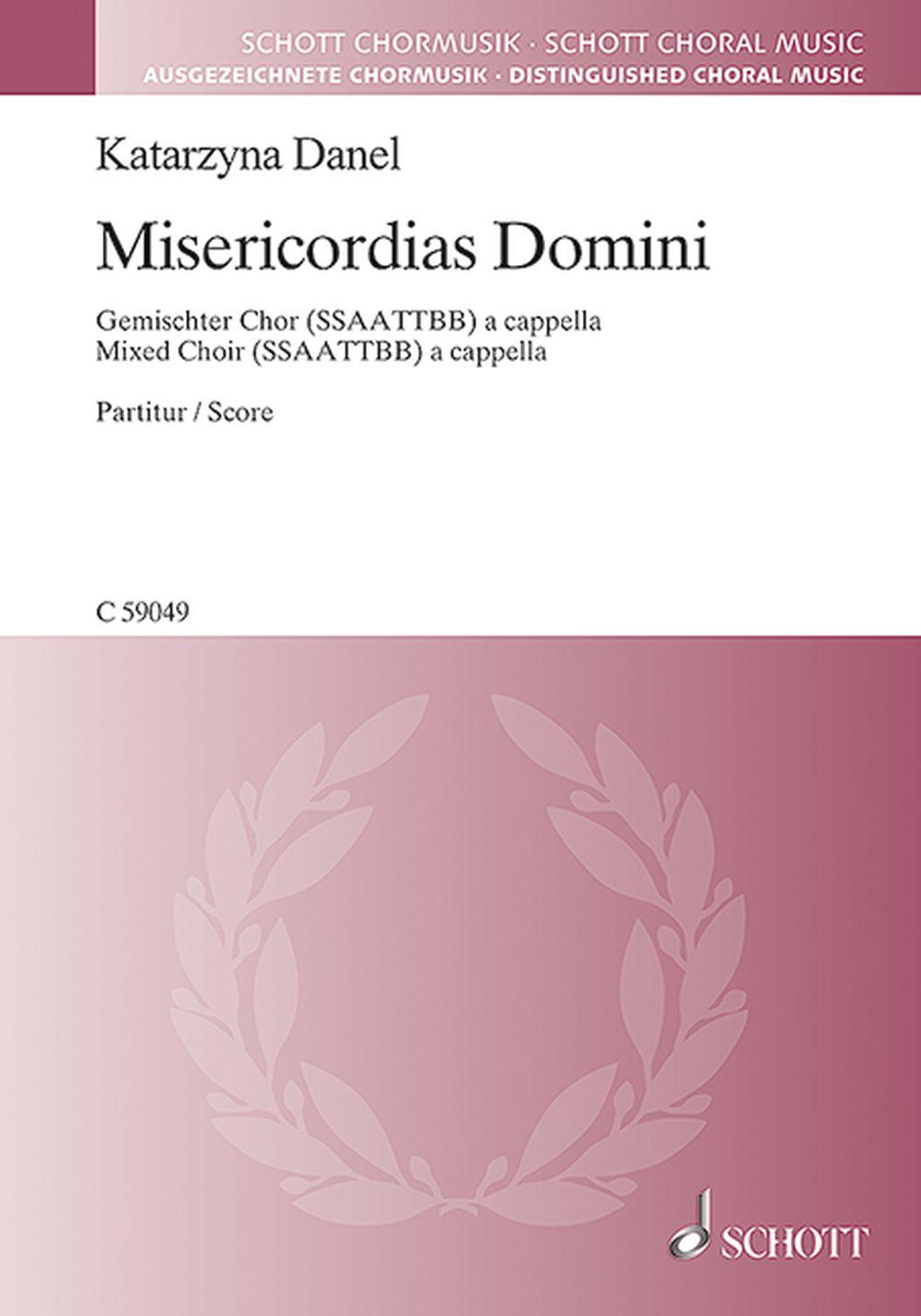 Misericordias Domini: SATB: Vocal Score