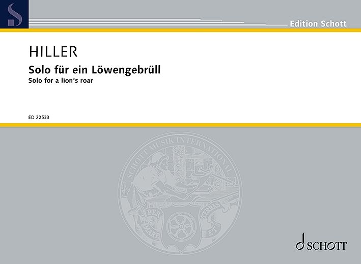 Wilfried Hiller: Solo for a lion's roar: Vocal Duets: Vocal Work