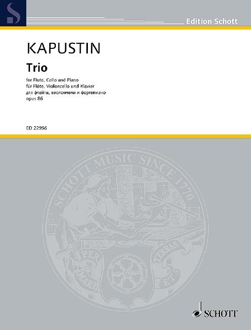 Nikolai Kapustin: Trio Op. 86: Mixed Trio: Score and Parts