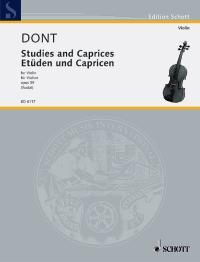 Jakob Dont: Etudes & Capricen Opus 35: Violin