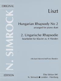 Franz Bendel Richard Kleinmichel: Hungarian Rhapsody No.2 Piano Duet: Piano
