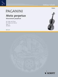 Niccolò Paganini: Moto Perpetuo Op. 11: Violin: Miniature Score