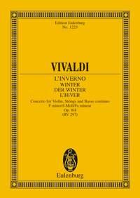 Antonio Vivaldi: Four Seasons 'Winter' Op 8 No 4: Violin: Miniature Score