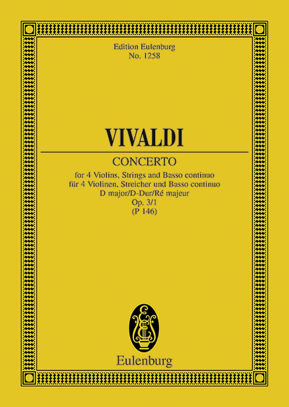 Antonio Vivaldi: L'Estro Armonico Op. 3 No. 1 RV 549 / PV 146: String Ensemble:
