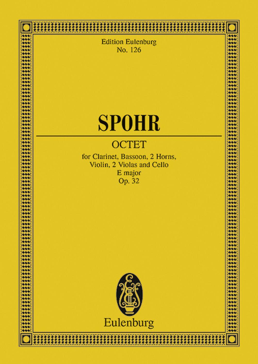 Louis Spohr: Octet E major op. 32: Chamber Ensemble: Miniature Score