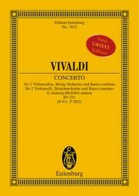 Antonio Vivaldi: Concerto G Minor RV 531: String Ensemble: Miniature Score