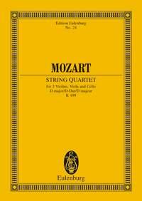 Wolfgang Amadeus Mozart: String Quartet In D Major K 499: String Quartet:
