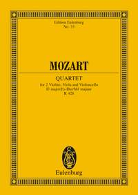 Wolfgang Amadeus Mozart: String Quartet In E Flat Major K428: String Quartet: