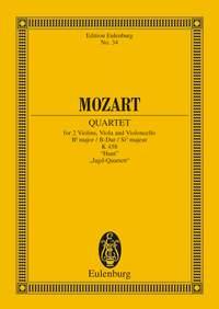 Wolfgang Amadeus Mozart: String Quartet In B Flat Major K458: String Quartet: