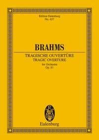 Johannes Brahms: Tragic Overture Op. 81 Study Score: Orchestra: Miniature Score