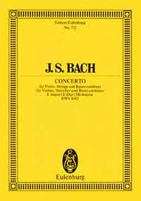 Johann Sebastian Bach: Violin Concerto In E BWV 1042: Orchestra: Miniature Score