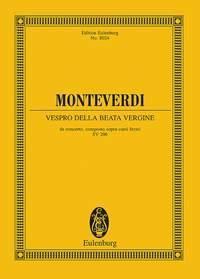 Claudio Monteverdi: Vespro Della Beata Vergine: Orchestra: Miniature Score