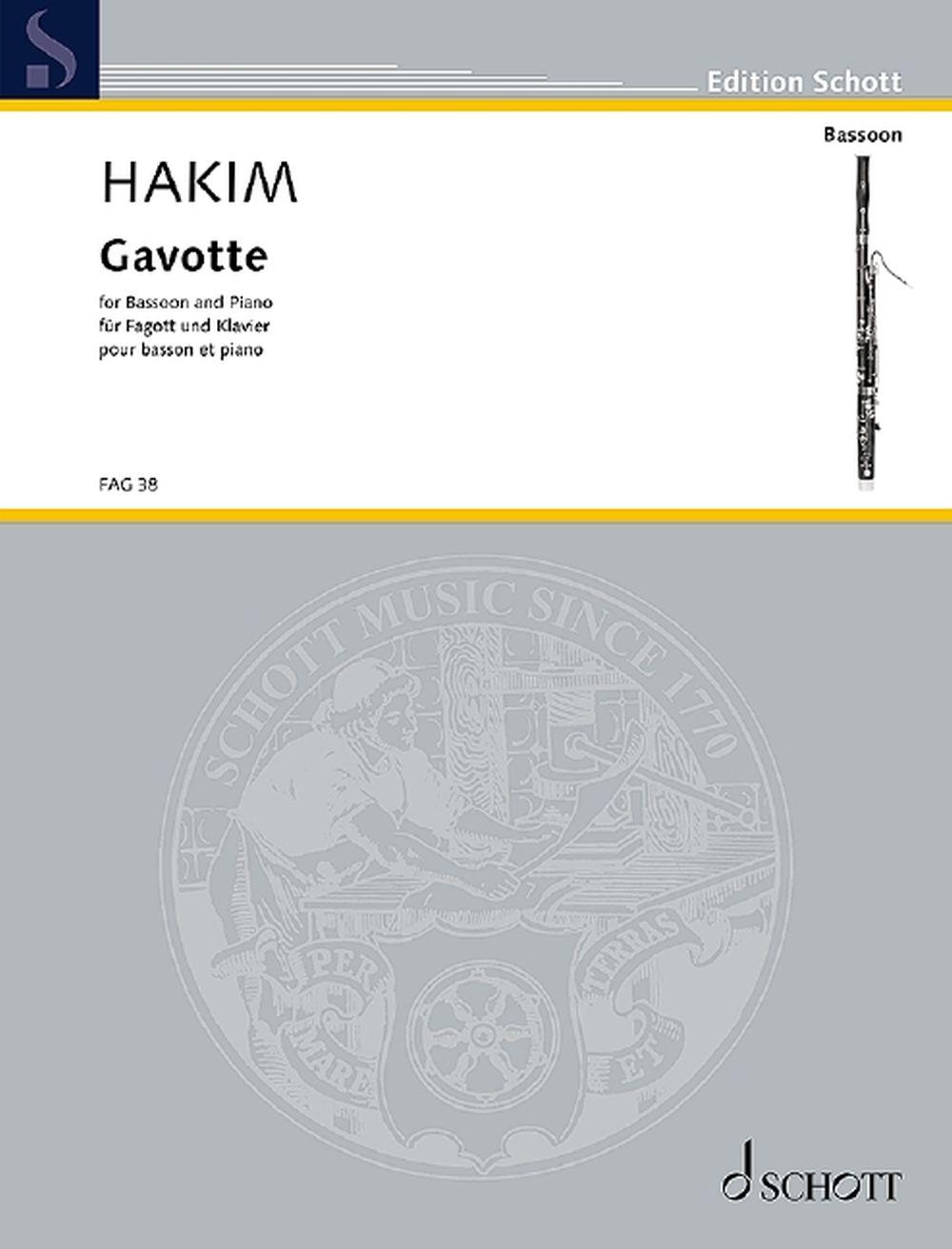 Naji Hakim: Gavotte: Bassoon: Instrumental Work