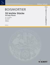 Joseph Bodin de Boismortier: Leichte Stucke(55) Opus 22: Flute Duet: Score