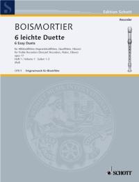 Joseph Bodin de Boismortier: 6 Leichte Duette - 6 Easy Duets Op. 17 Vol. 1: