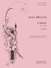 Max Bruch: Pezzi (8) Op. 83 N. 7 Si Cl(Vn)  Va(Vc) E Pf: Piano Trio: