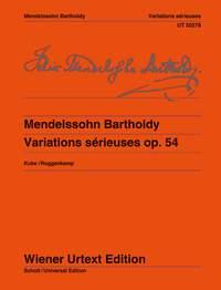 Felix Mendelssohn Bartholdy: Variations Sérieuses Op.54: Piano: Instrumental