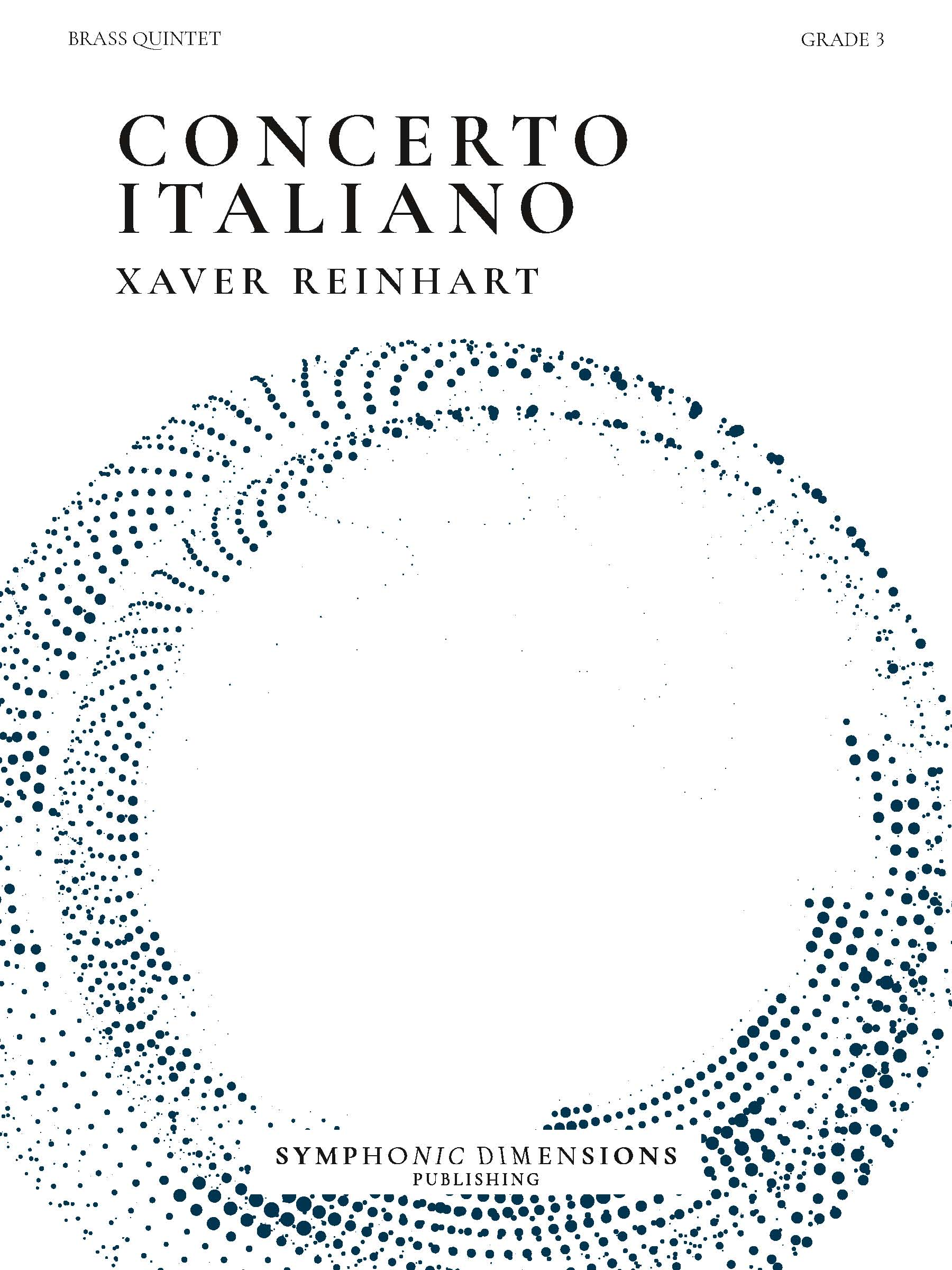 Xaver Reinhart: Concerto Italiano: Brass Ensemble: Score and Parts