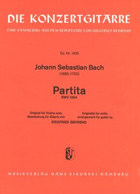 Johann Sebastian Bach: Partita: Guitar: Instrumental Work