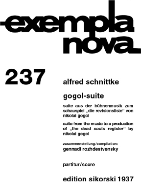Alfred Schnittke: Gogol-Suite: Orchestra: Study Score