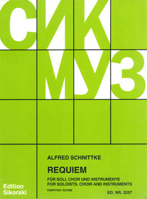 Alfred Schnittke: Requiem: Mixed Choir: Vocal Score