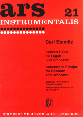 Carl Stamitz: Concerto For Bassoon And Orchestra: Bassoon: Instrumental Work