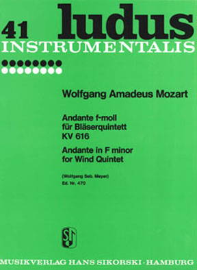 Wolfgang Amadeus Mozart: Andante In F Kv616: Wind Ensemble: Instrumental Work